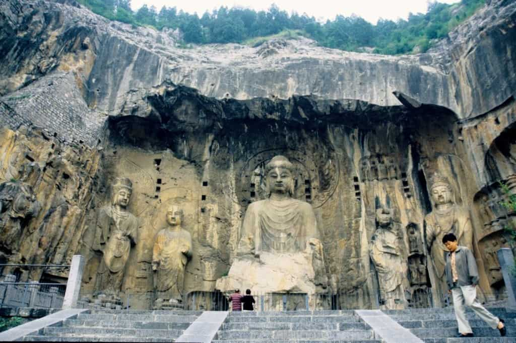 Longmen Grottoes - Buddha literally carved into the mountain Credit: 1000 Lonely Places