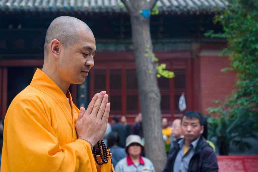 Monk Praying at White Horse Temple