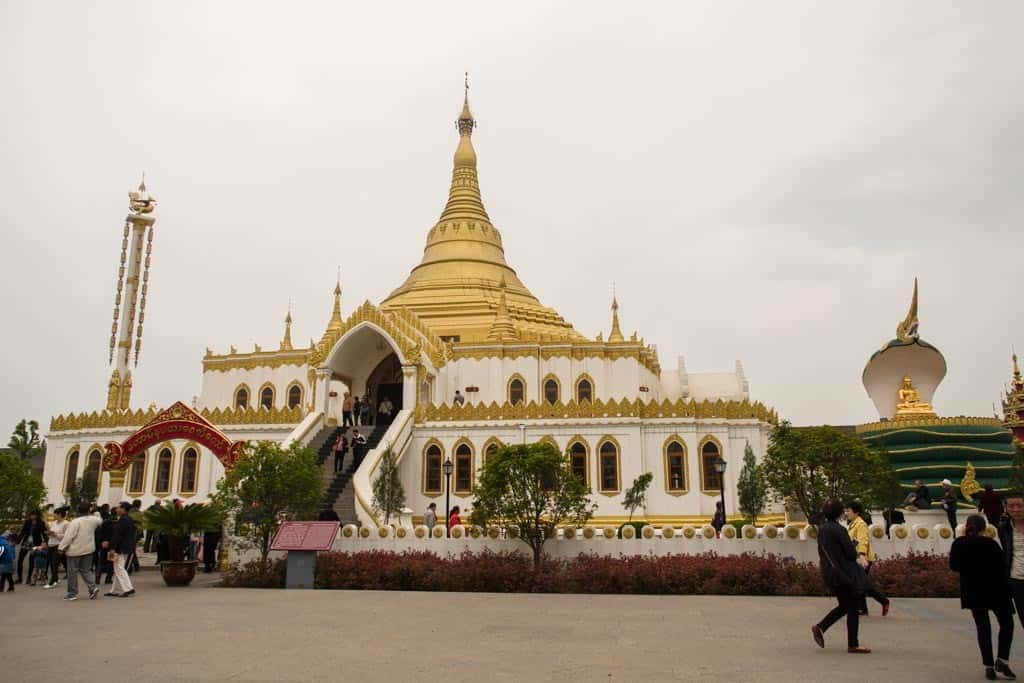 Myanmar Stupa at White Horse Temple