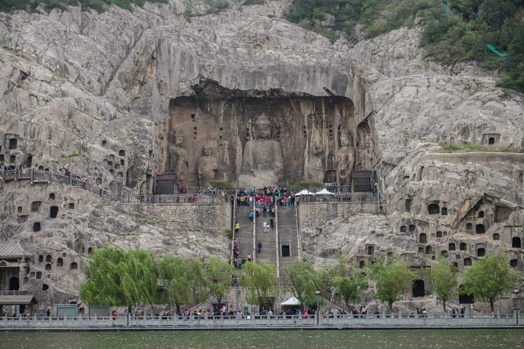 Statue of Vairocana Buddha From Across The River