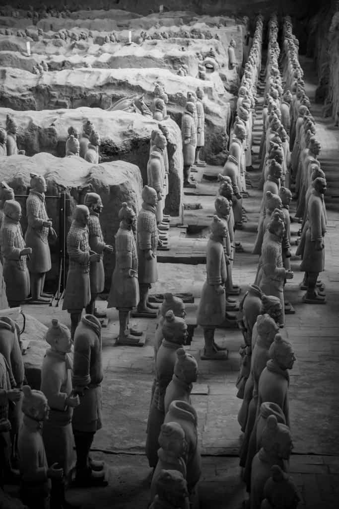 A closer look at the vanguard soldiers lined up at the front of the pit as we made our way around the corner.