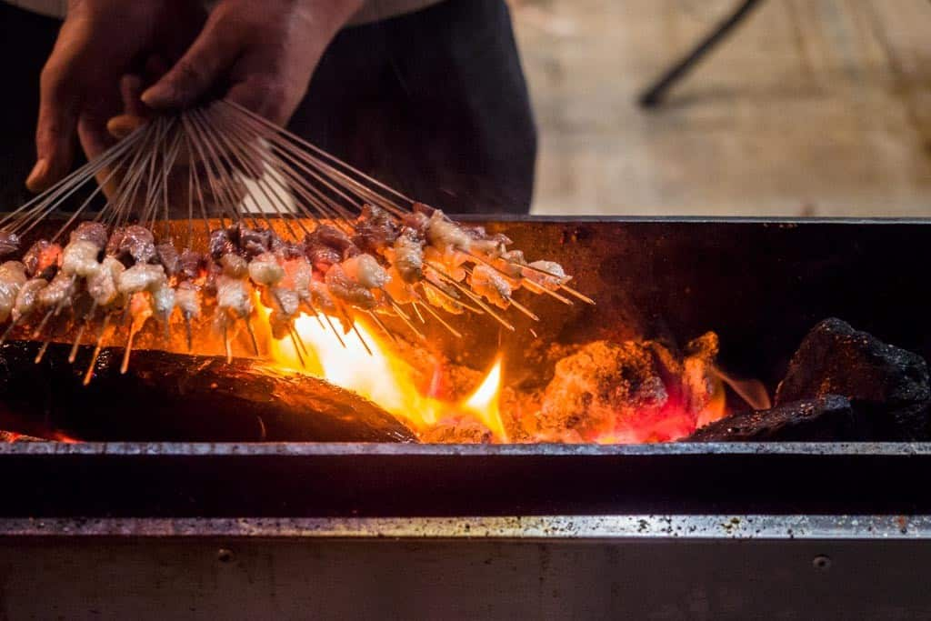 With their love for street food is the presence of meat skewers EVERYWHERE.