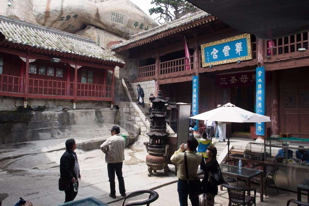 Taoist temple called Cuiyun Palace at West Peak.