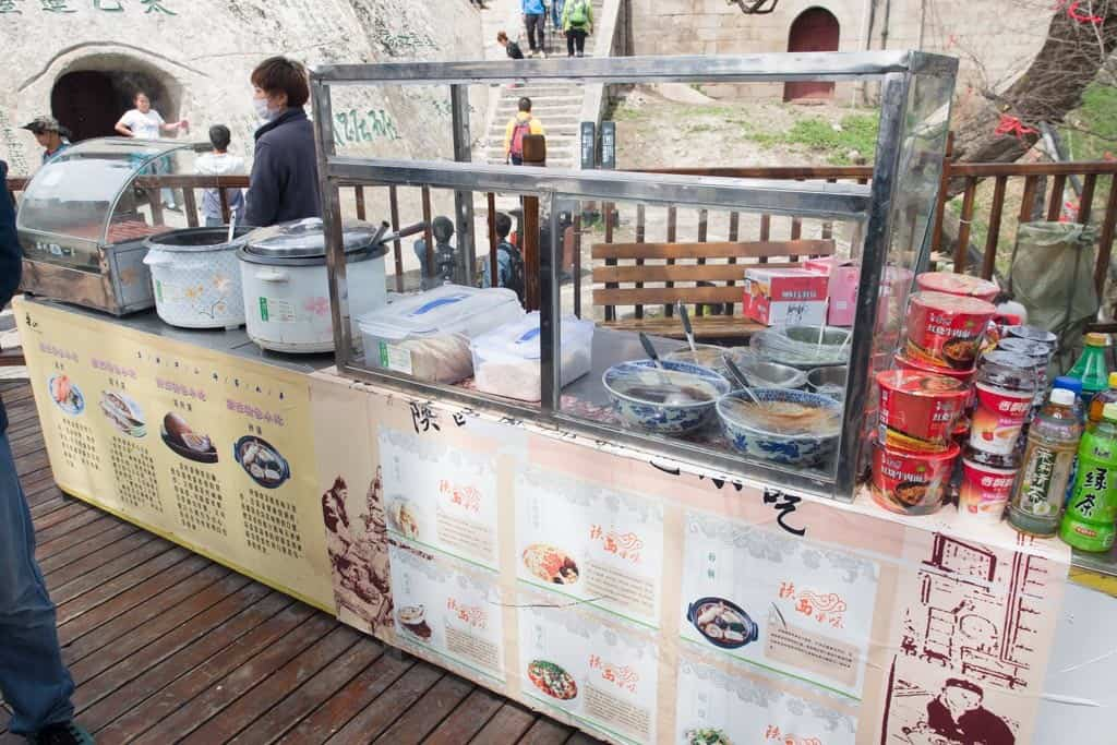 The food stall at the West Peak rest station.