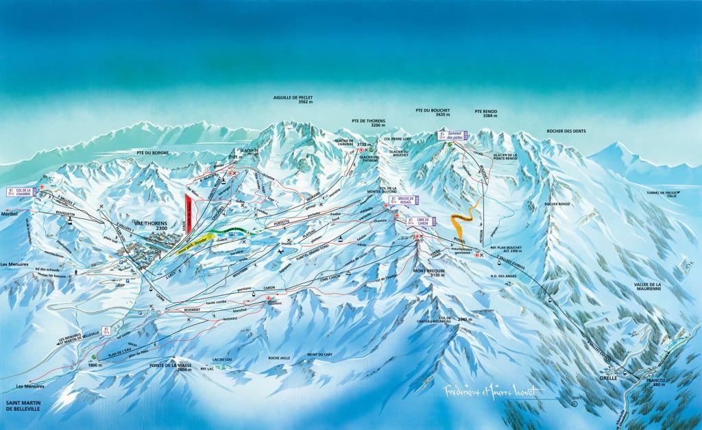 Val Thorens Trail Map