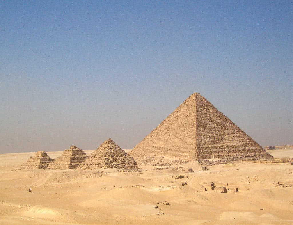 pyramids of egypt is one of the most beautiful places in africa