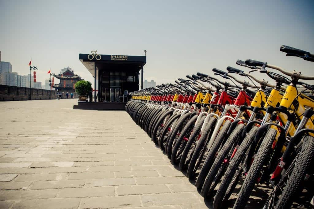 There are so many bikes here so you don't need to worry about them running out. The rental shops can be found at each of the main gates.