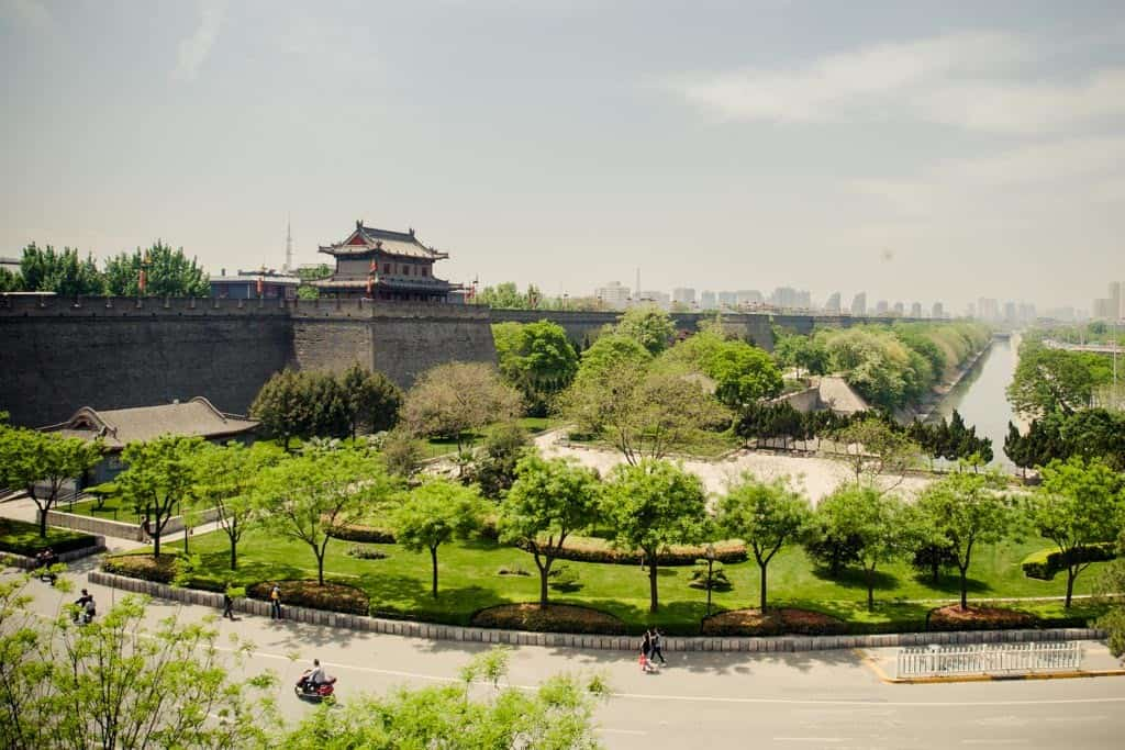 The city's done an amazing job with all the park space outside the city wall.