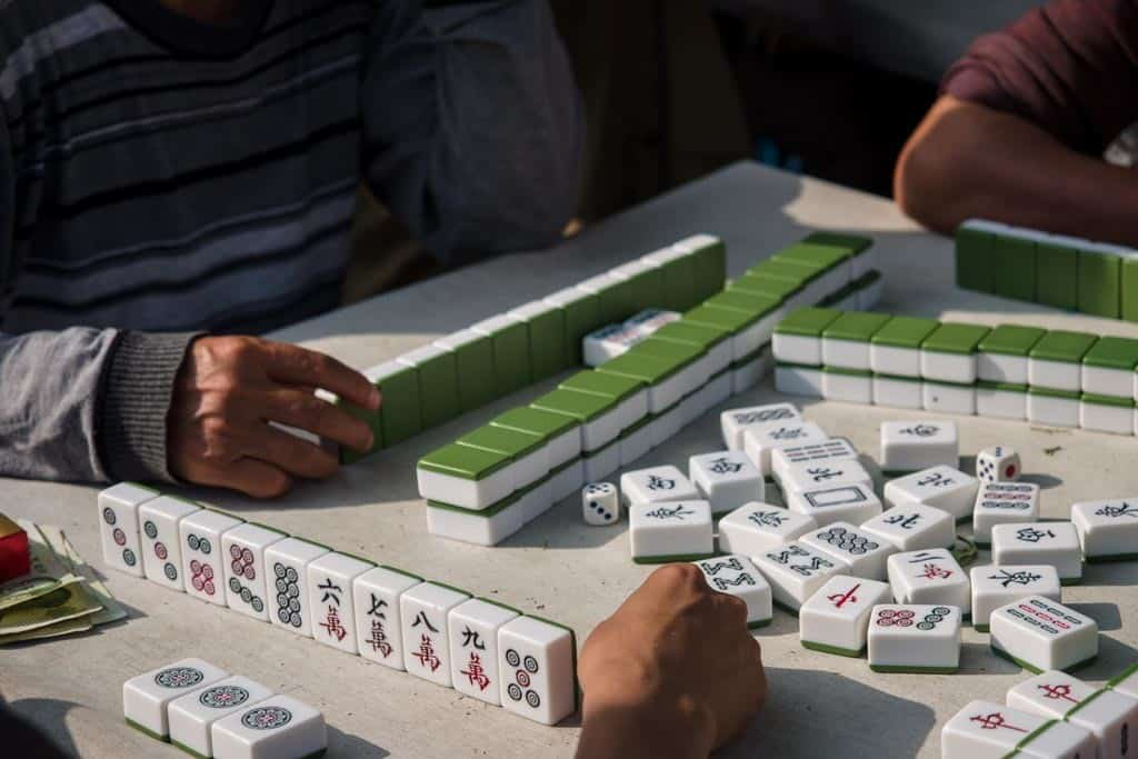 We even got to watch some serious Mah Jong happening at the end of the street. There must've been at least 8 tables going on simultaneously.