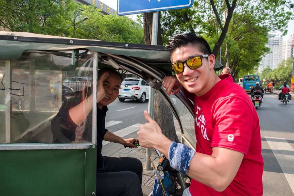 Grabbing a little tuk tuk-like tricycle was quick but expensive.