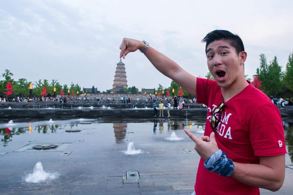 Silly photo time with our favorite pagoda.