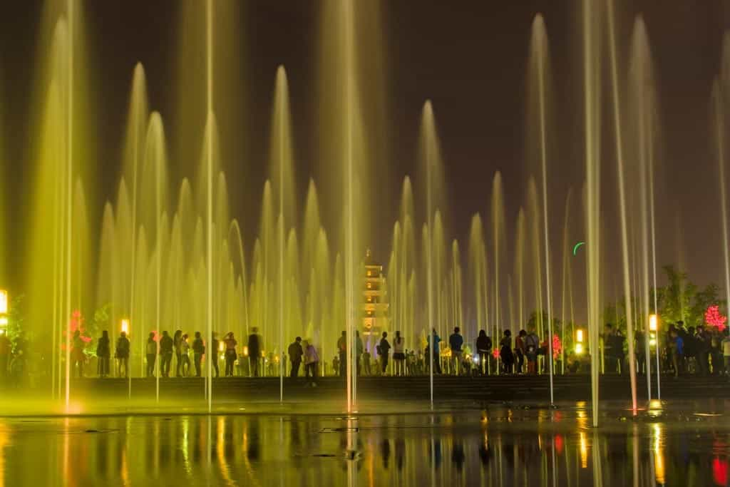 The show was an impressive combination of lights, water and music.