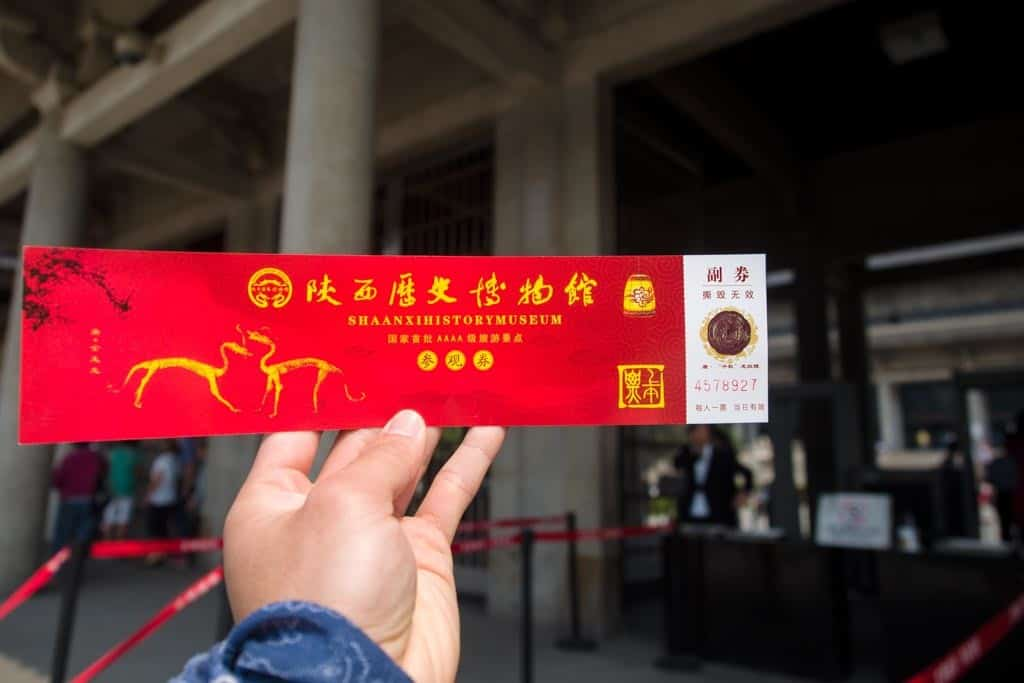 shaanxi history museum ticket a must do in xi'an
