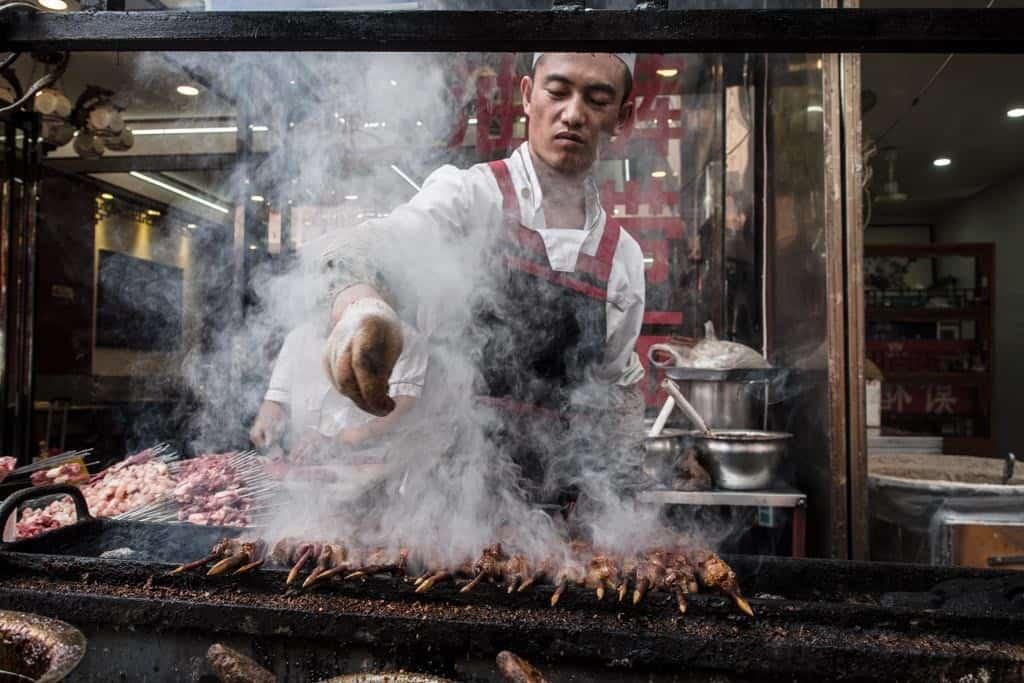 The most popular food vendor item was definitely the lamb skewers.