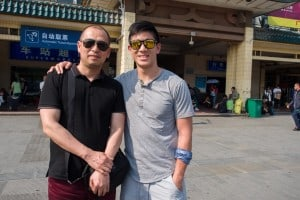 Will and Michael in Xi'an