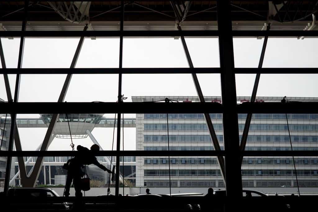 Shanghai Airport Squeegee