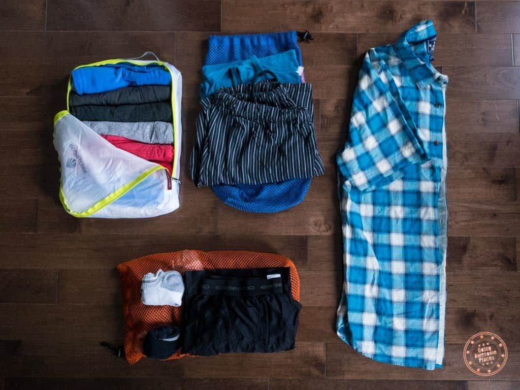 rolling your clothes when packing for a trip saves space