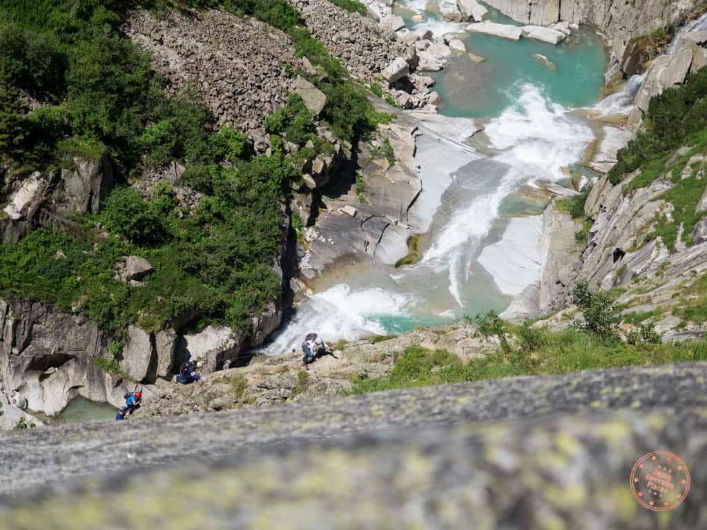 Climbing the Via Ferrata del Diavolo in Andermatt, Switzerland was no easy task.