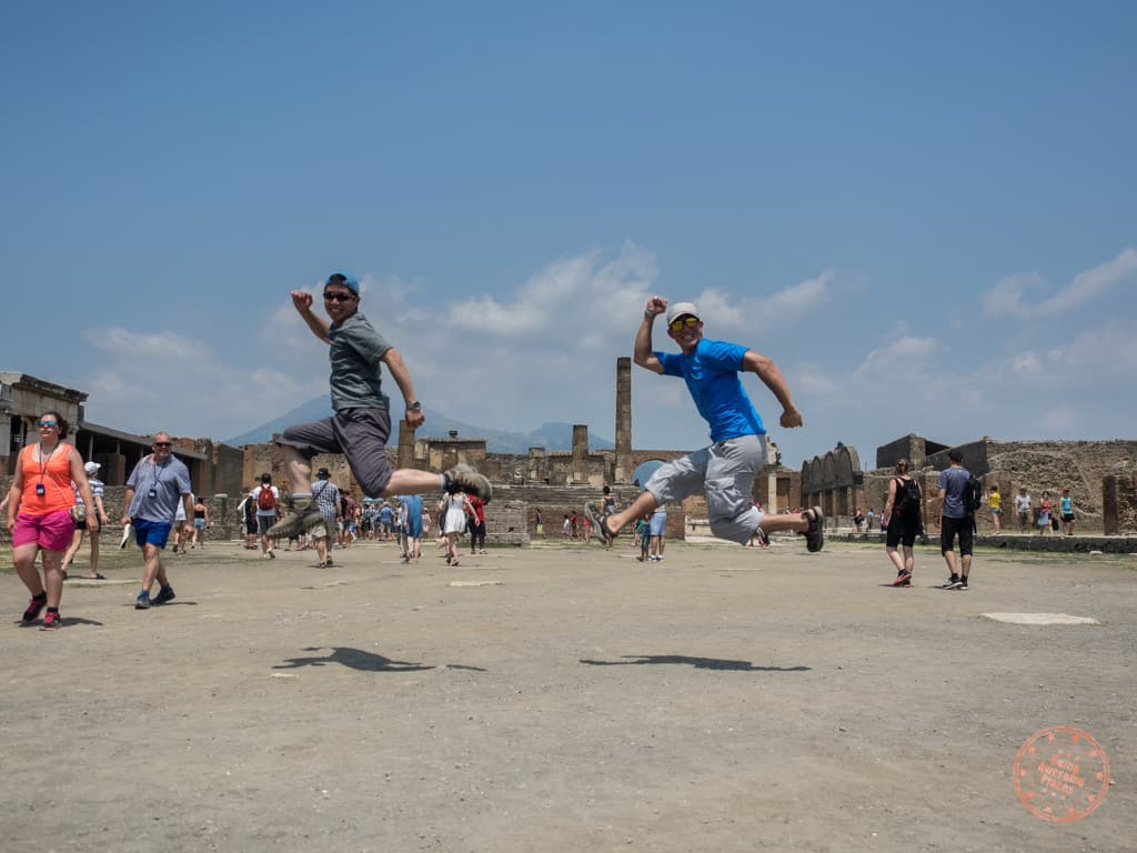 We capped off our day in Pompeii with a little running leap of joy.