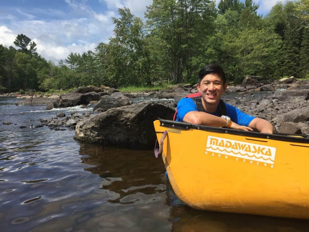 Whitewater Paddling Canoe