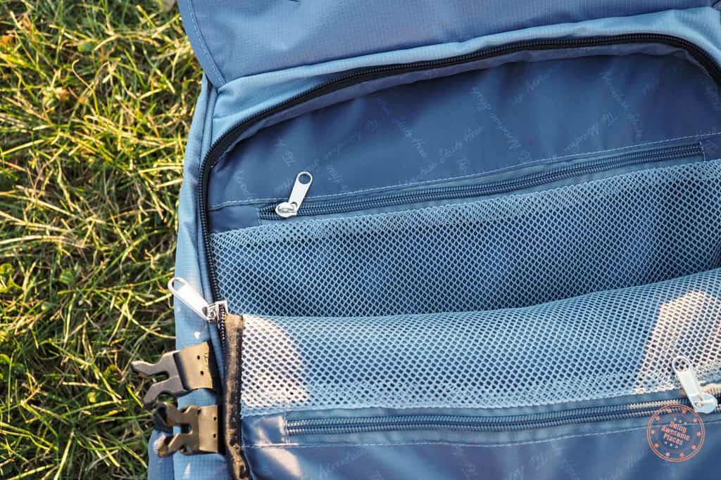 Numinous 55L Backpack Front Laptop Compartment