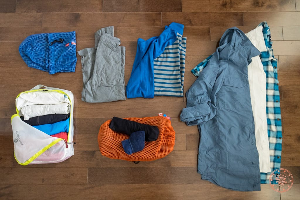 peru packing list - shirts and underwear