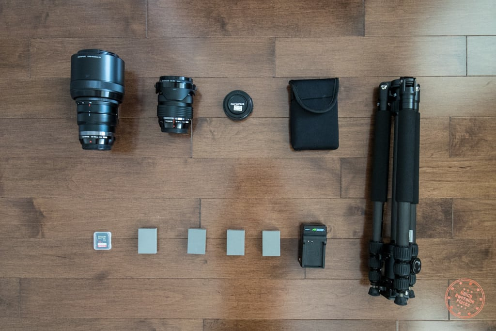 peru packing list - camera gear