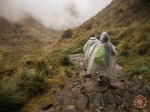 ponchos on the inca trail hike to machu picchu