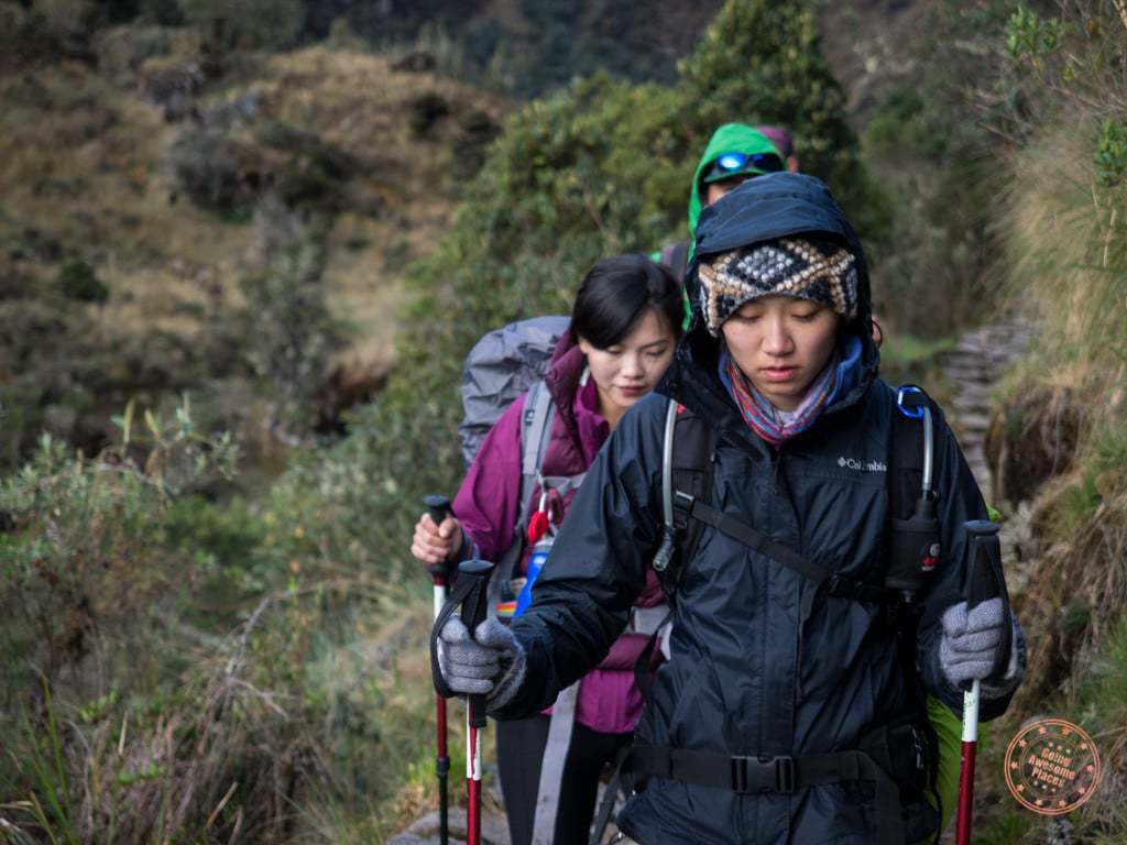 cold weather gear as we trek along the inca trail