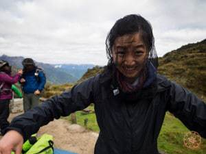 using mosquito net during inca trail hike
