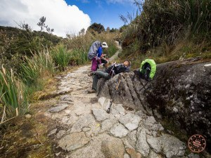 the exhaustion is real on the inca trail