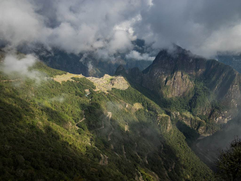 Machu Picchu Up Close from Sun Gate Trail