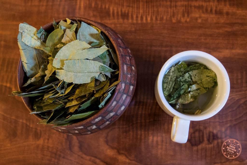 Coca Tea in Cusco