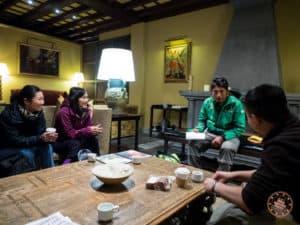 Palacio Del Inka Hotel Lobby Meeting with Alpaca Expeditions