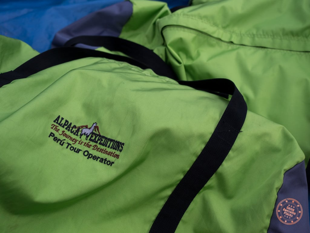 Alpaca Expedition's duffle bags