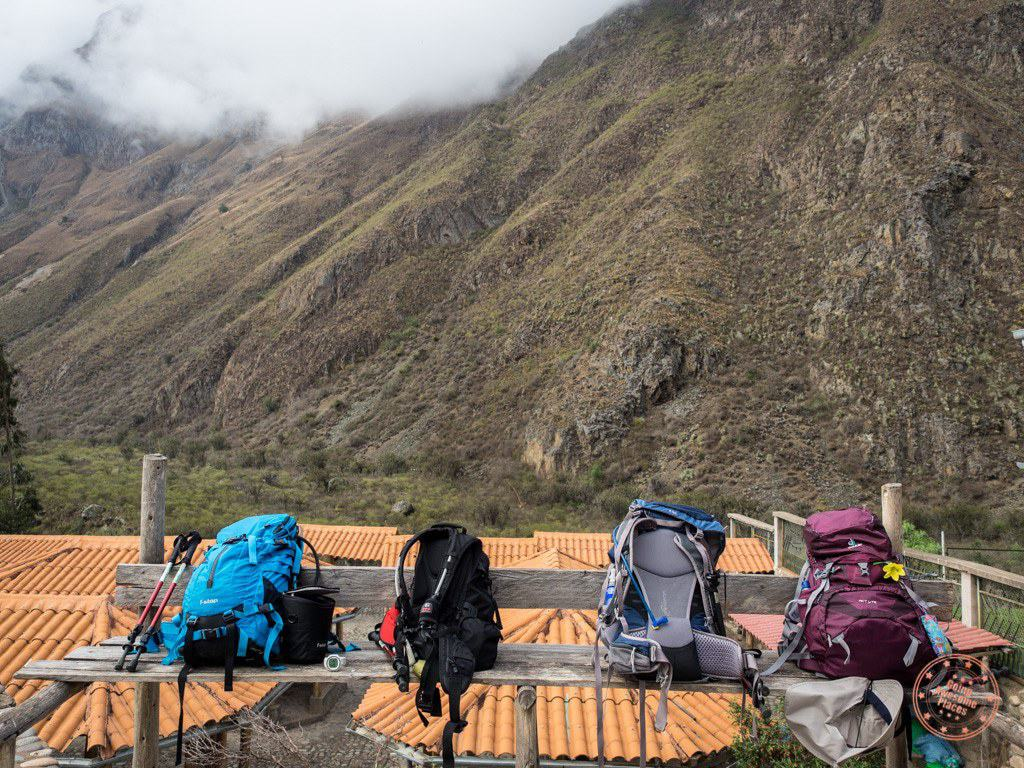 Inca Trail Backpack Gear Lined Up
