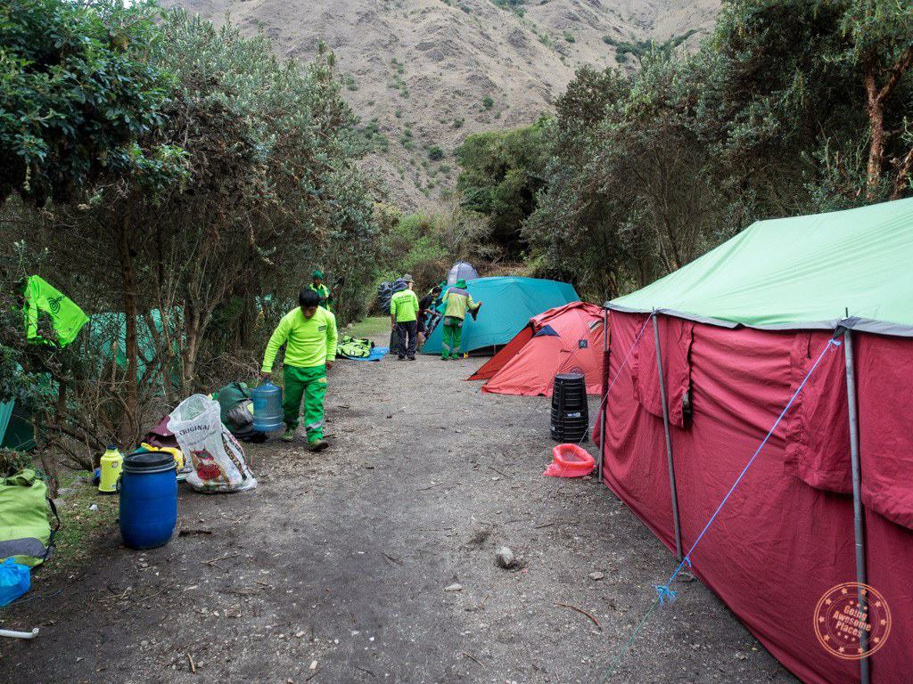 Alpaca Expeditions Tent Set Up On Inca Trail