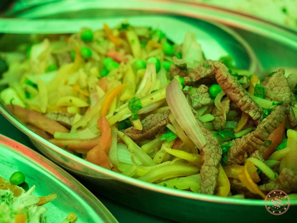 Peruvian Lomo Saltado served up for lunch.