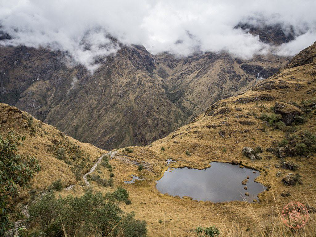 This lake in the mountains captures the beauty of the Inca Trail and the incredible surroundings you pass through.