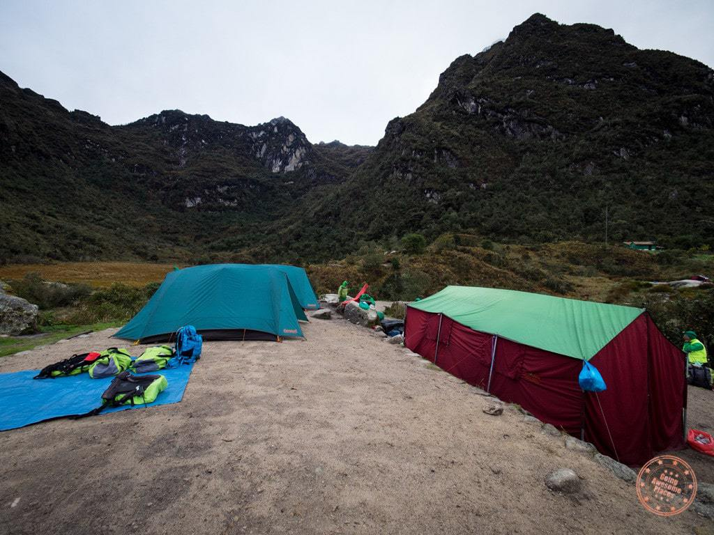 Morning look at our campsite. There were other groups to the left and right of us but we pretty much had our own reserve space.
