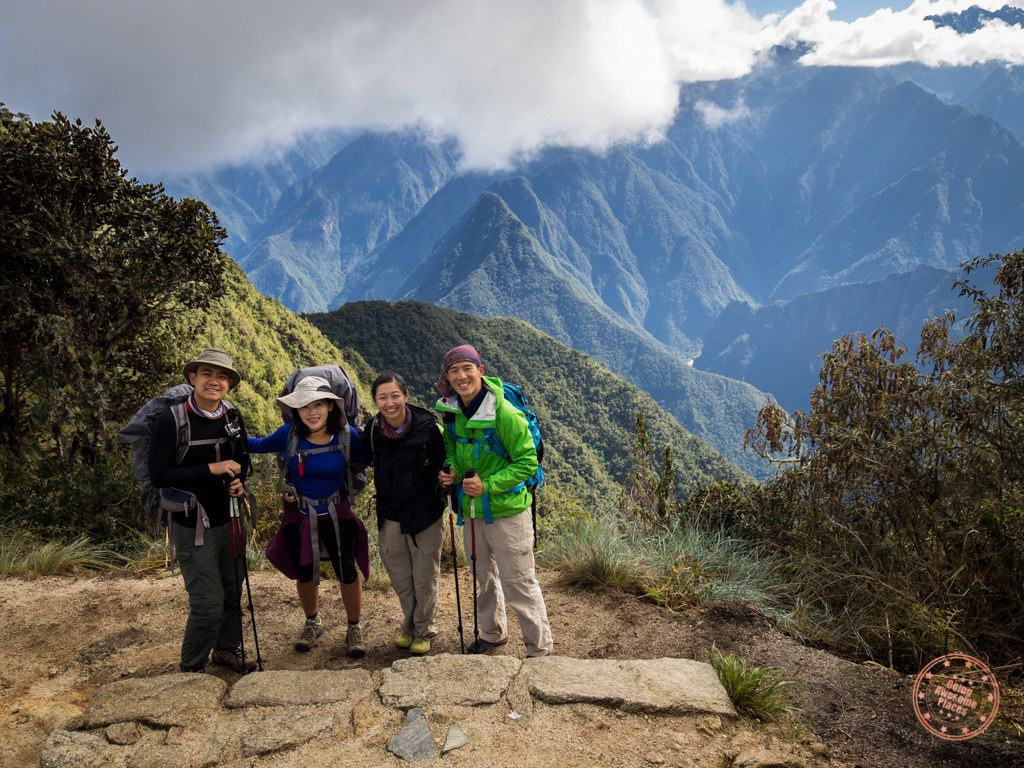 Things were looking up on Day 3 because we could finally see Aguas Calientes and the flag for Machu Picchu.