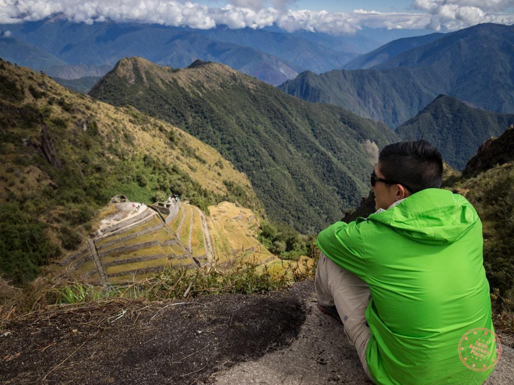 Enjoying the Inca Trail Views