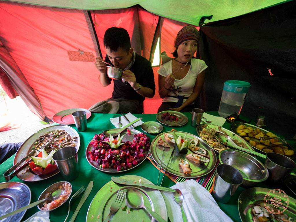 By about 3PM we make it to our camp fashionably late and we chow down what we can of lunch.