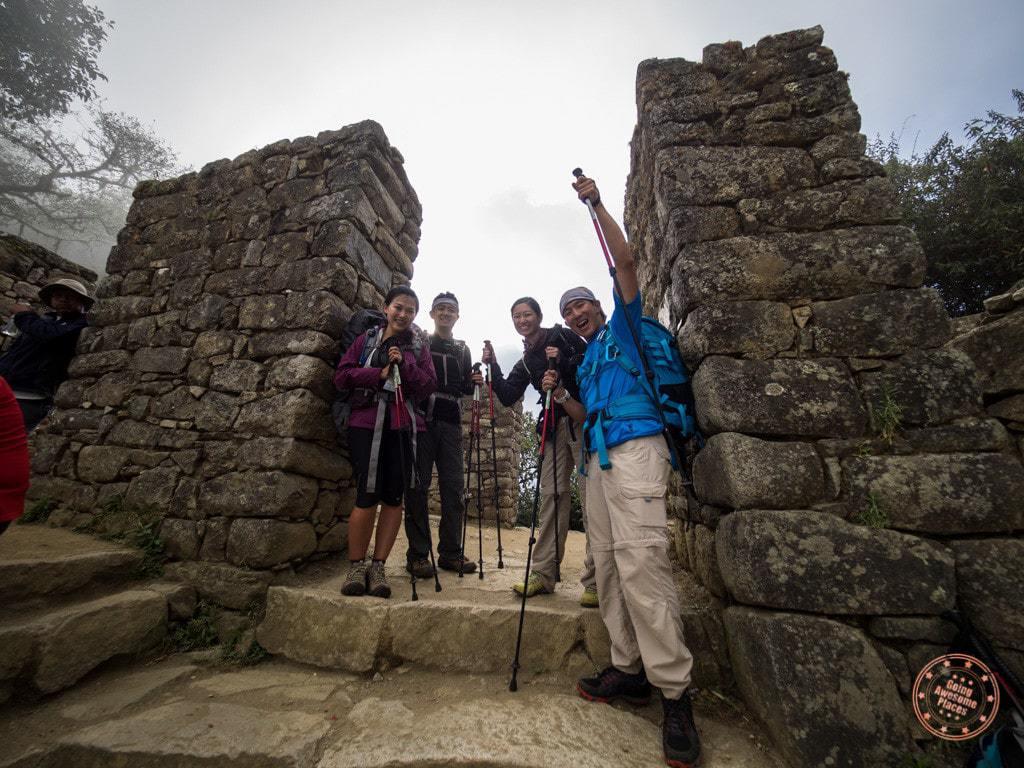hiking to sun gate near machu picchu alpaca expeditions hike