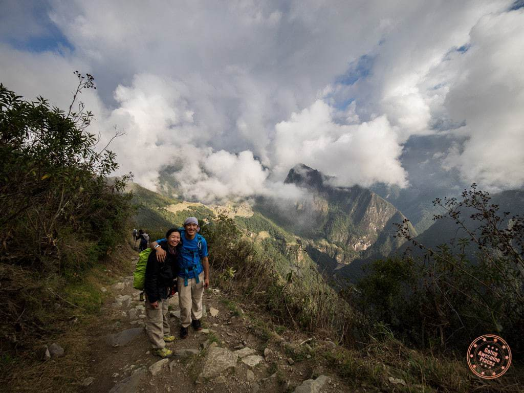 The last stretch of the Inca Trail was perhaps the most scenic and magical. It was mostly a gradual downhill and we literally watched the fog part with the sun shining at our backs to reveal Machu Picchu below.
