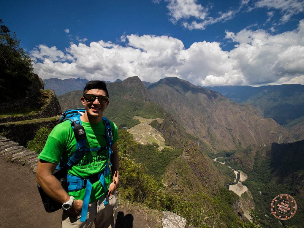 view from huayna picchu hike with what to pack gear