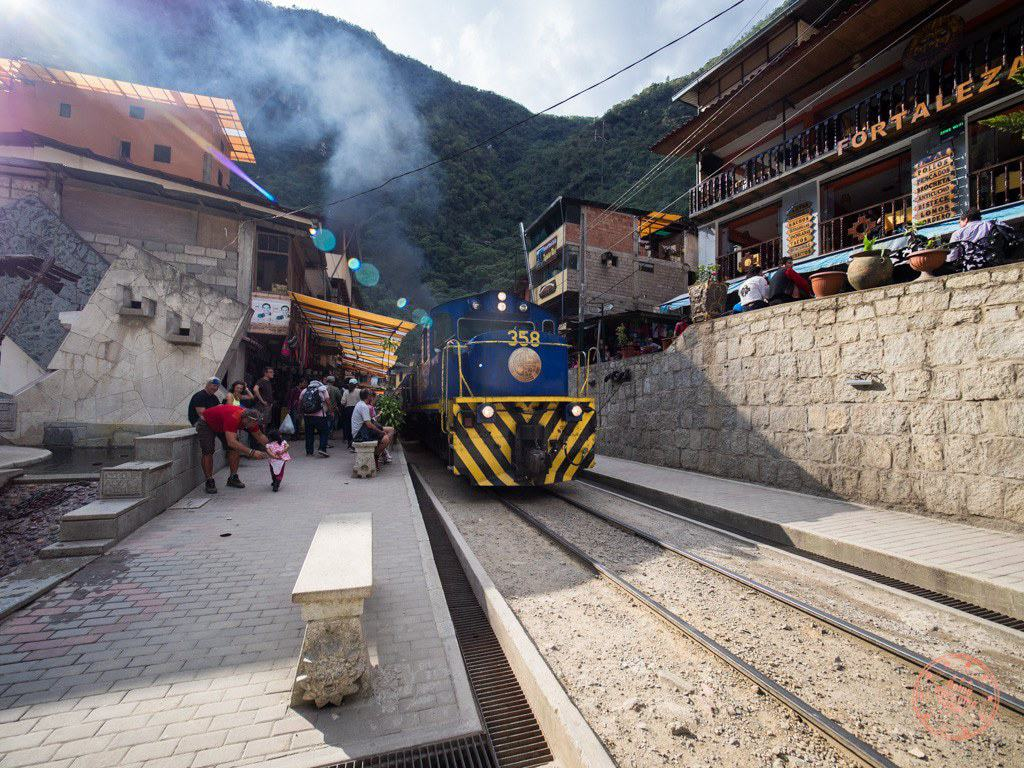 The town of Aguas Calientes is literally built around the train tracks and the train station.