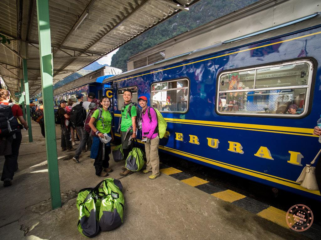 Getting ready to board our Peru Rail train.