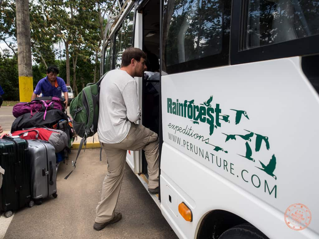 Rainforest Expeditions Bus Airport Pickup