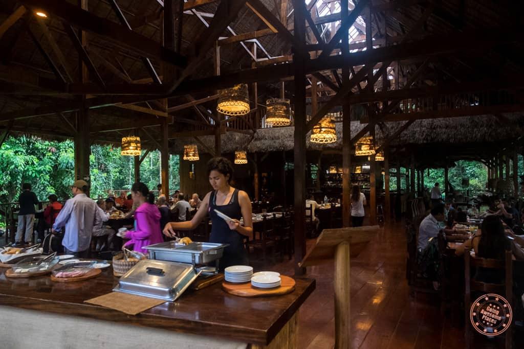 Refugio Amazonas Dining Hall